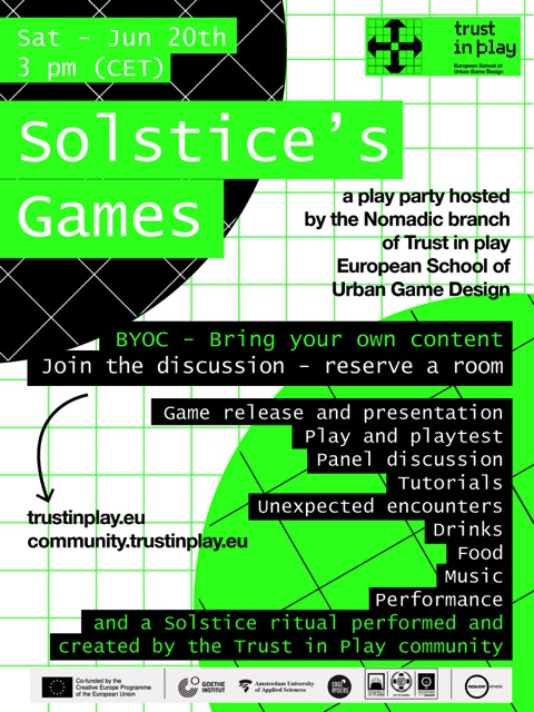 ONLINE EVENT | Trust in Play Solstice's Games Party