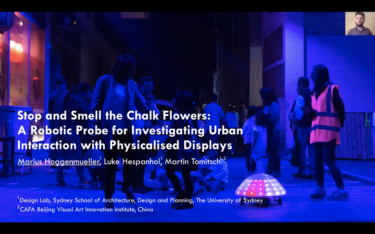 "CONFERENCE PRESENTATION | ""Stop and Smell the Chalk Flowers: A Robotic Probe for Investigating Urban Interaction with Physicalised Displays"""