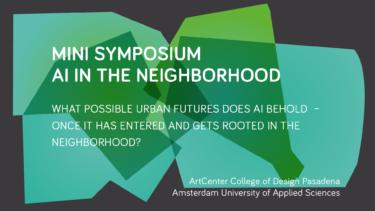 MINI-SYMPOSIUM | AI in the Neighborhood
